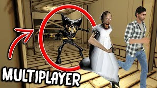 Granny vs Bendy & The Ink Machine MULTIPLAYER... (Bendy KILLS Granny?!)