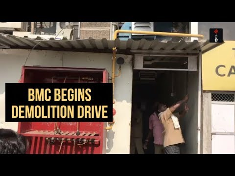 BMC Begins Demolition Drive Against Illegal Structures In Kamala Mills Area