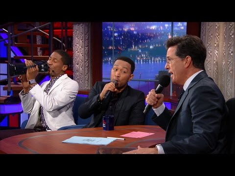 "Stephen And John Legend Sing ""America The Beautiful"""