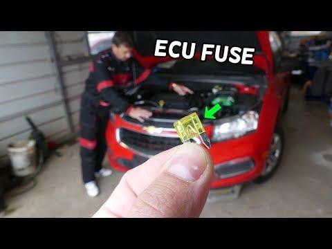 CHEVROLET CRUZE ECU ENGINE COMPUTER FUSE LOCATION REPLACEMENT. ECU ECM PCM FUSE