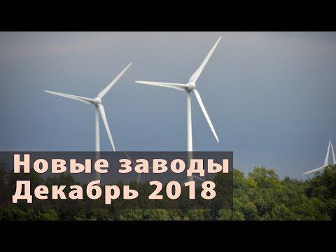 Новые заводы России. Декабрь 2018