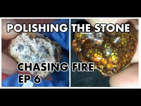 POLISHING FIRE AGATE USING HAND TOOLS! - CHASING FIRE EP 6 -