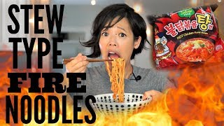 STEW Type FIRE Noodle Challenge | Samyang Spicy Chicken Ramen