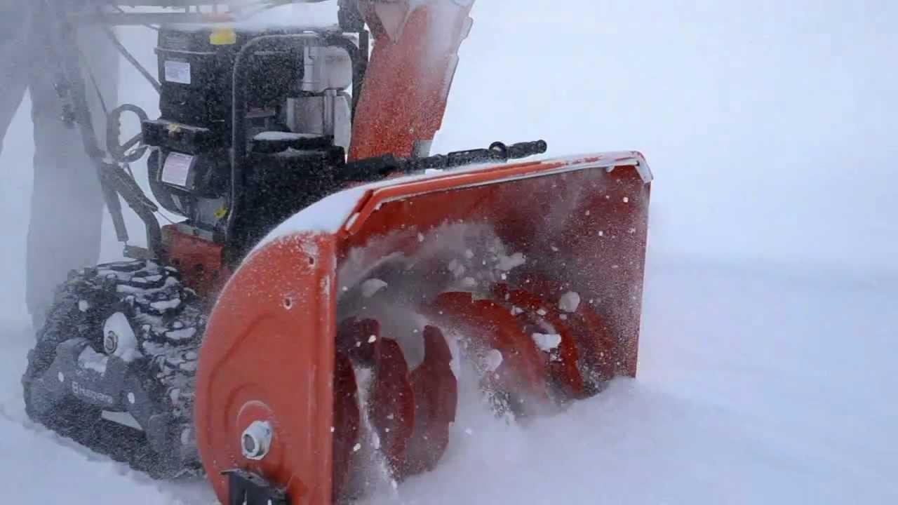 Husqvarna Snow Blowers Shaft Drive : Husqvarna snow thrower track drive youtube