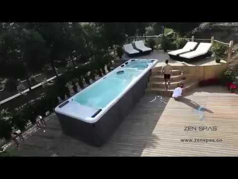 The poseidon pro zen spas swim spa exclusive to hot tub for Pool zen spa
