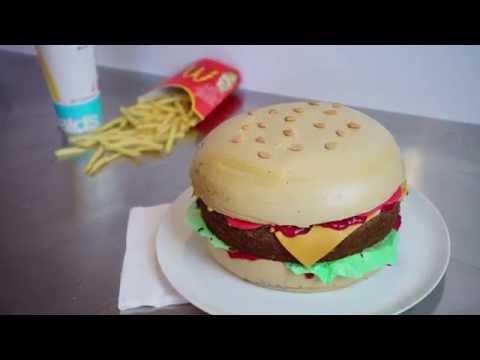 einfache,-fondantfreie-cheeseburger-torte---hamburgerkuchen-ohne-fondant-tutorial---kuchenfee