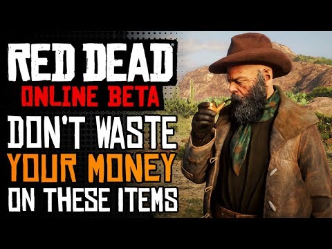 Don't Buy These Items In Red Dead Online   RDR2 Online Worst Items To SPEND MONEY On thumbnail