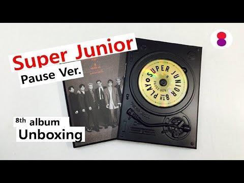 Super Junior pause ver 8th album unboxing 슈퍼주니어 8집 スーパージュニア8集