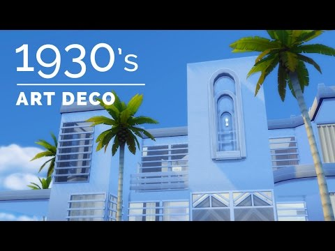 Sims 4|Decade Build Series|1930s Art Deco
