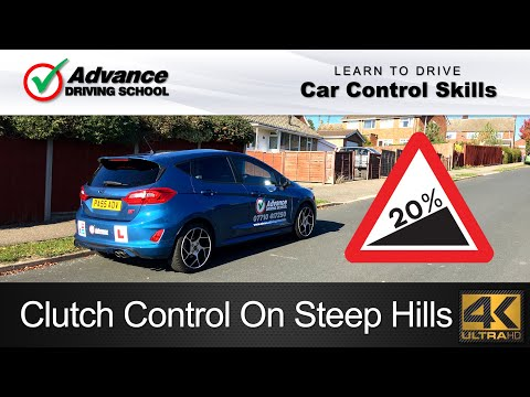 Clutch Control On Steep Hill Starts | Learn to drive: Car