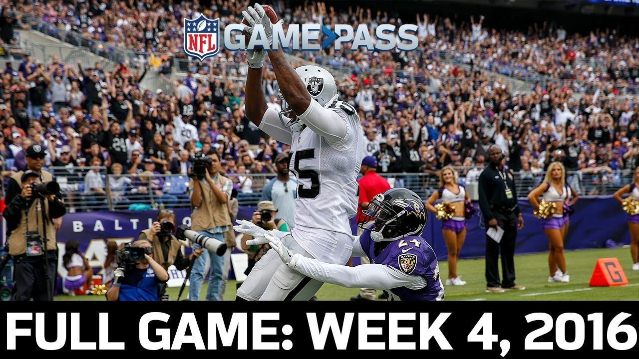 A Dynamic Ending: Raiders vs. Ravens Week 4, 2016 FULL GAME