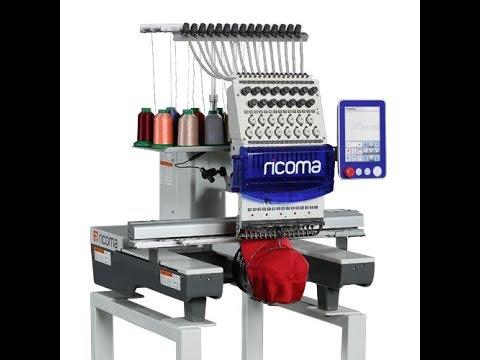 видео: Вышивальная машина RICOMA RCM1501/1201TC-8S
