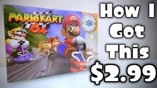 How I got BRAND NEW [MARIO KART 64] For $2.99! [NintendoCade RETRO]
