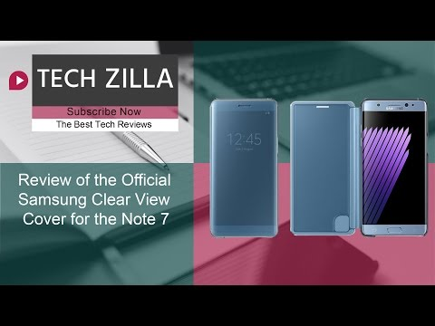 Official Samsung Galaxy Note 7 Clear View Cover Review