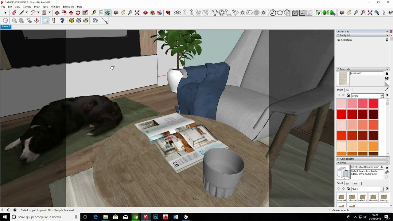 Interior scene using vray 3.4 for Sketchup #1
