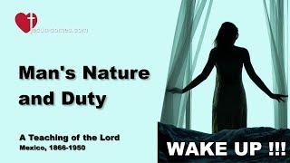 MAN's NATURE, DUTY & SPIRITUAL DESTINY ... JESUS EXPLAINS ❤️ The Book of the true Life Teaching 277
