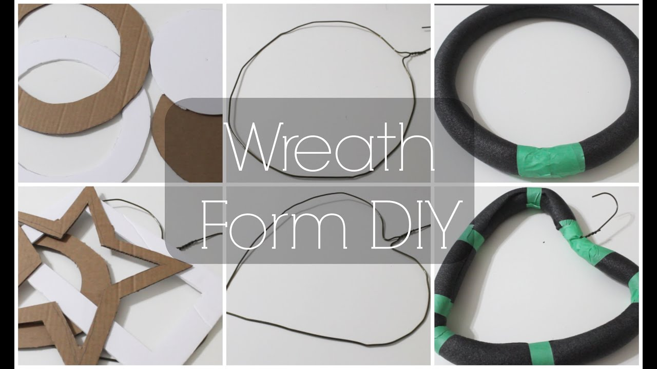 DIY Wreath Forms ♡ {The Basics} ♡ Jessica Joaquin - YouTube