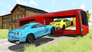 Funny Moments Fails, Near Misses Cars #2 - BeamNG drive