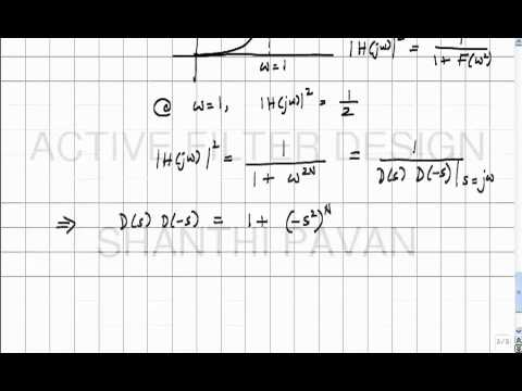AFD02 - The Butterworth approximation