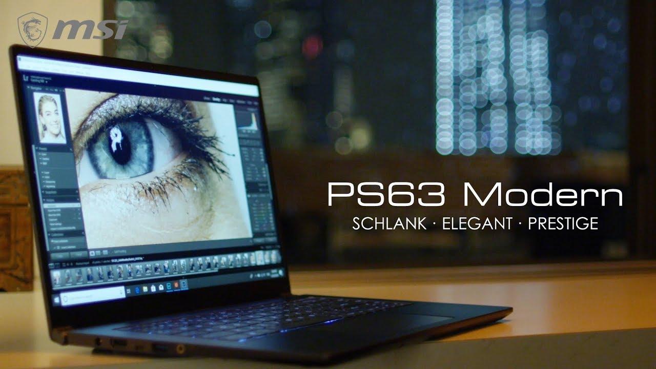 PS63 Modern - Schlank. Stark. Prestige.