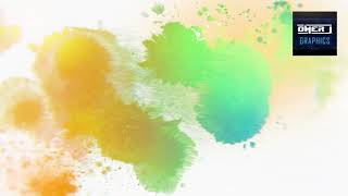 Watercolor Ink Splat Green Screen Motion | Free Download | OMER J GRAPHICS