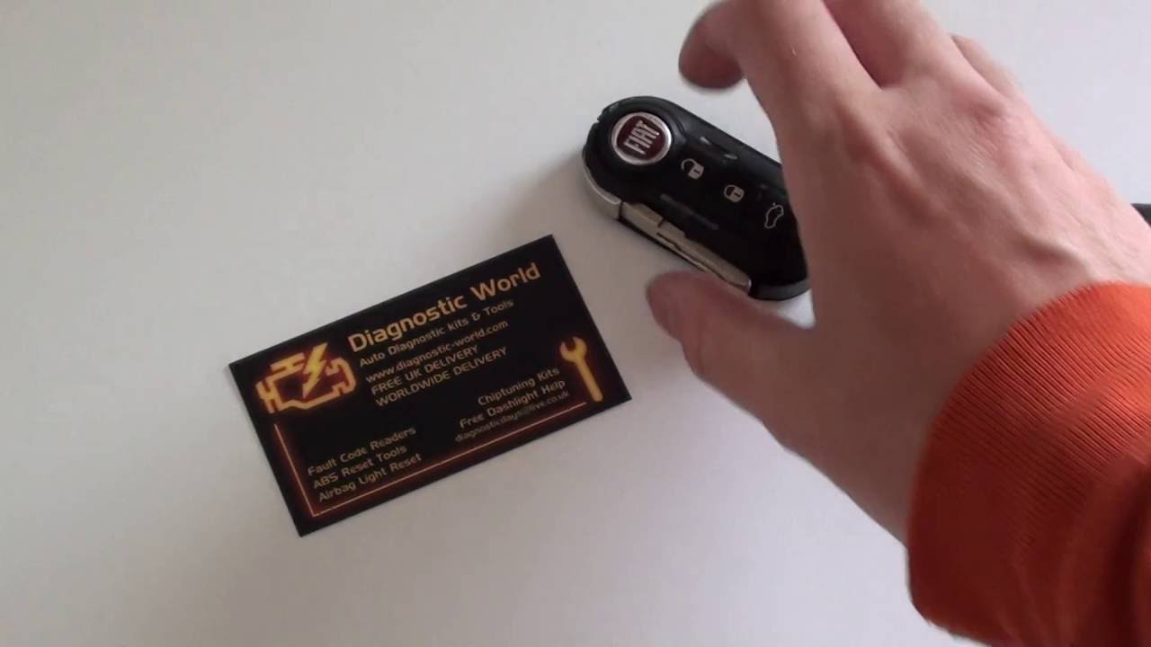 Car Key Battery >> Fiat Car Key Fob Battery Replacement Removal Guide - YouTube
