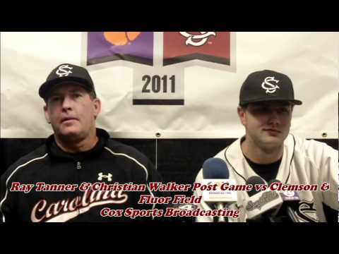 Ray Tanner & Christian Walker Post Game vs Clemson Fluor Field.mov