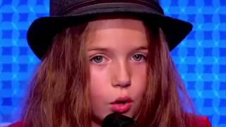 Erza 8 years old   sings 'Papaoutai' by Stromae   France's got talend 2014 audition
