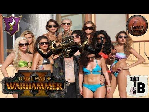 Sand Witches! - Dark Elves vs Greenskins | Total War Warhammer 2 Quick Battle