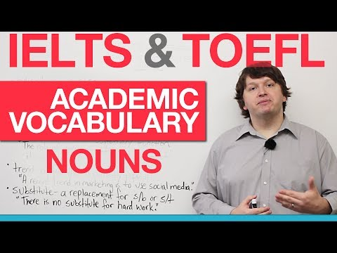 IELTS & TOEFL Academic Vocabulary - Nouns (AWL)