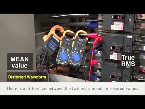 Using a Hioki Current Clamp Meter: True RMS & MEAN values