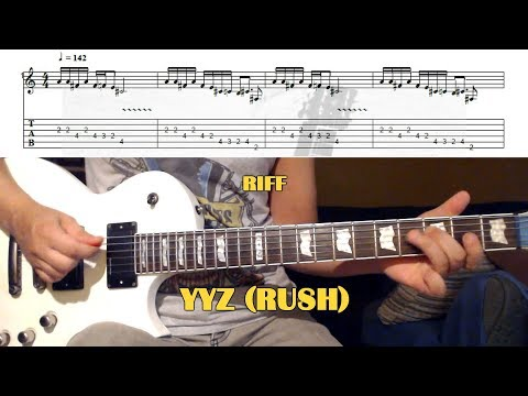 YYZ (Rush) GUITAR LESSON with TAB - MAIN RIFF