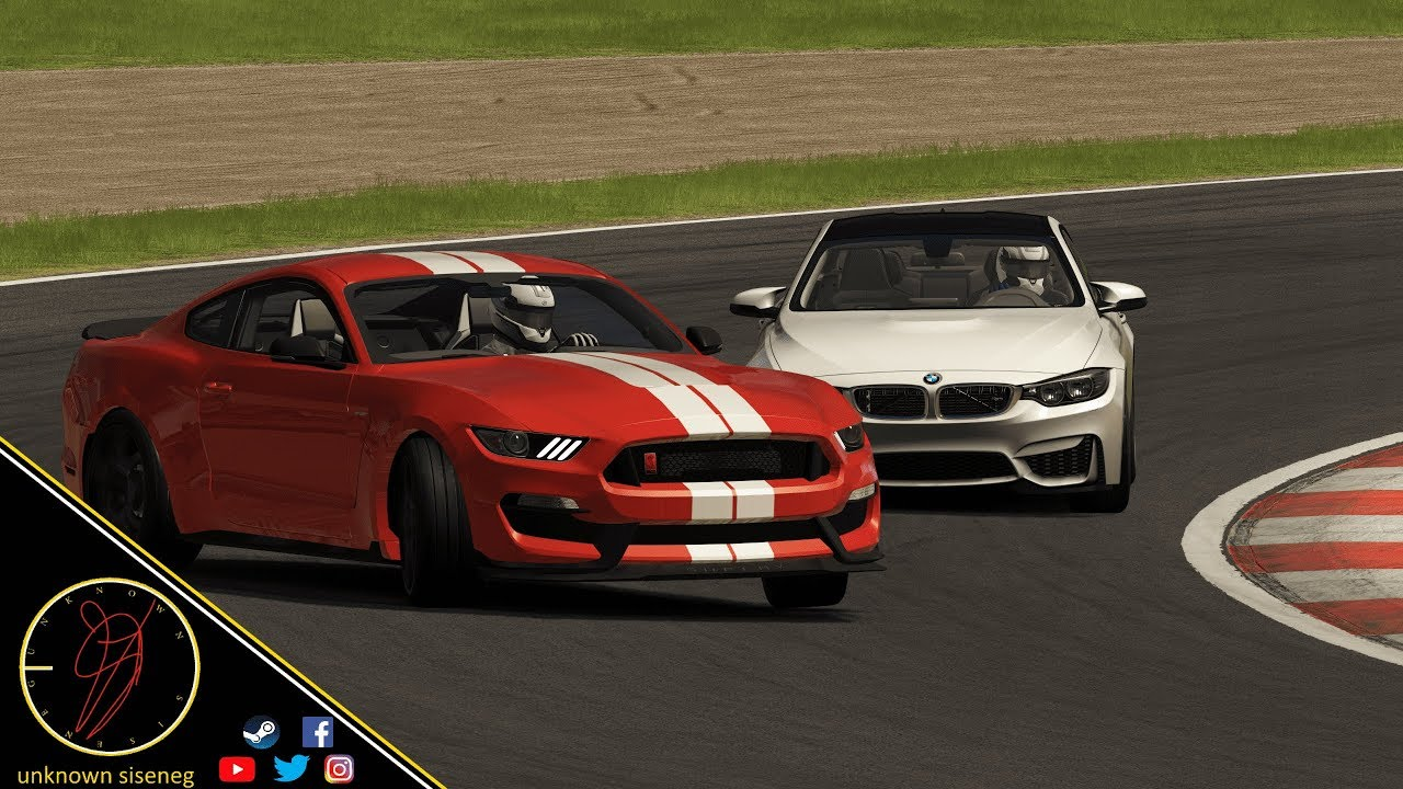 Ford Mustang Shelby GT350 vs Bmw M4 at Red Bull Ring / Assetto Corsa