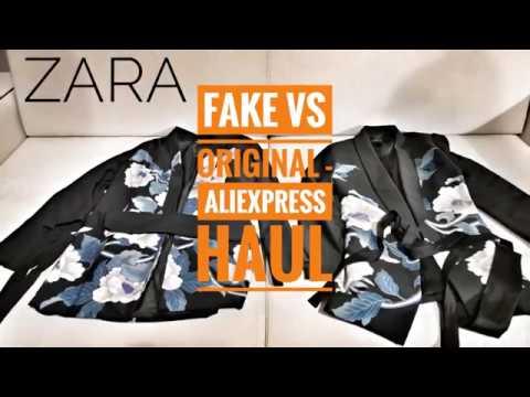 b6e9d9f407bd ZARA Aliexpress haul - FAKE vs REAL!!! - YouTube