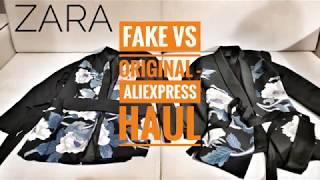 ZARA Aliexpress haul - FAKE vs REAL!!!