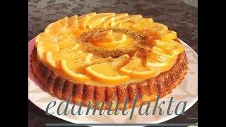 Portakal soslu tart kek
