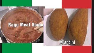 Secret Arancini, Stuffed Rice Balls & Ragu Meat Sauce