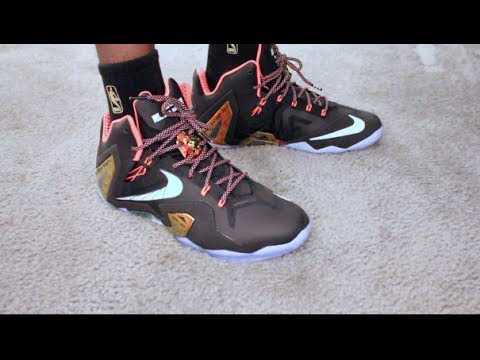cd0f1c477b5d ... top quality retail release nike elite lebron xi gold collection on feet  sneaker review youtube b906b