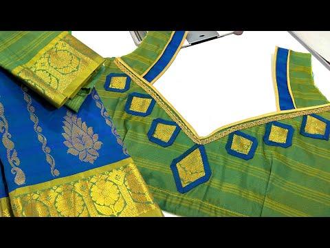beautiful-silk-saree-blouse-designs-back-neck- -simple-blouse-design-for-silk-sarees