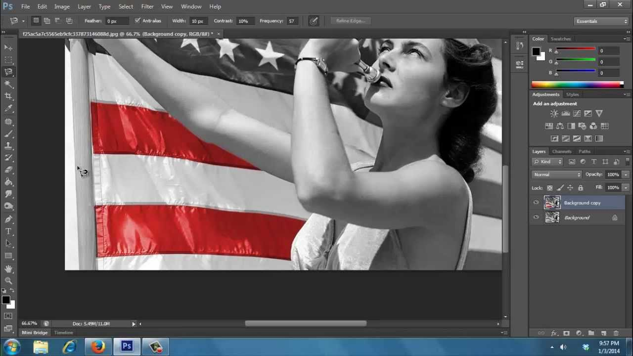 Photoshop cs6 tutorial black and white to color youtube baditri Image collections