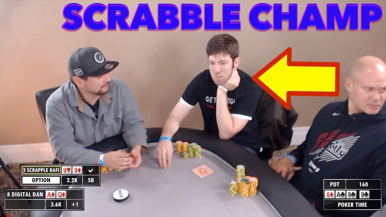 Poker Time Cash Game Scrabble Expert Turns A Set And Donks Youtube