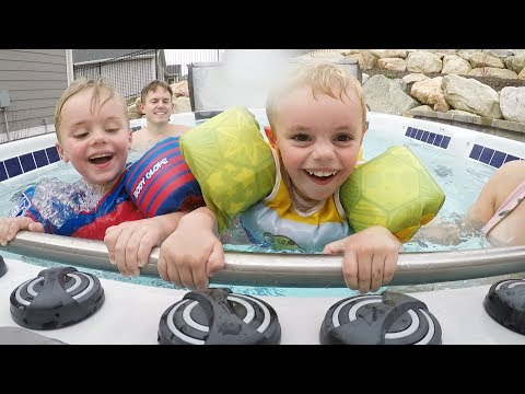 GIANT HOT TUB GAME! Hold On For Dear LIFE! | Ellie And Jared