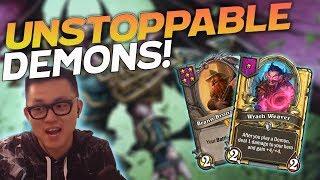 Brann's UNSTOPPABLE Demons!  - Hearthstone Battlegrounds