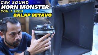 Cek Sound Horn Monster Brewog Pakai BETAVO Twiter Kencang Banget   Coil 4.5inch Balap #hornbalap #betavo #hornmonster.