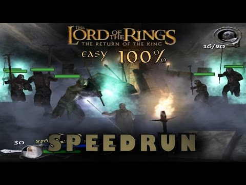 Lotr: The Return of the King Easy 100% Speedrun (2:35:37) PC