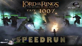 Lotr: The Return of the King Easy 100% Speedrun (2:35:37) PC