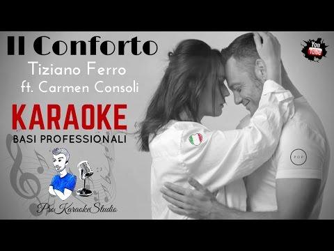 THE CONFORT (Tiziano Ferro Ft. Carmen Consoli) INSTRUMENTAL  BACKTRACKS KARAOKE + LYRICS HD
