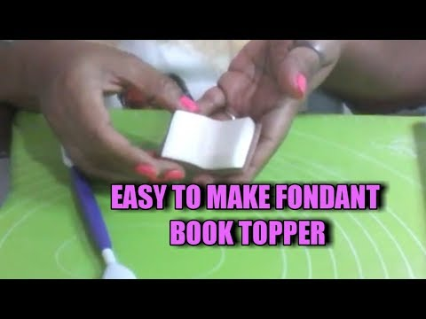 How to make fondant book topper.