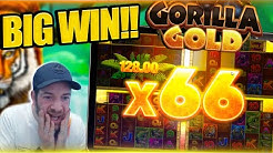 INSANE MULTIPLIER ON GORILLA GOLD MEGAWAYS!! Huge Slot Win!