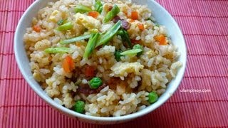 Ulam Pinoy #7 - Bacon Fried Rice (leftover Rice)